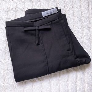 VALENTINO Black Pleated Dress Pants/Trousers